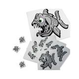 photo de Pyranha Angry fish stickers autocollants