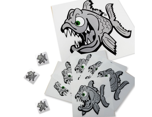 photo de l'article Pyranha Angry fish stickers autocollants